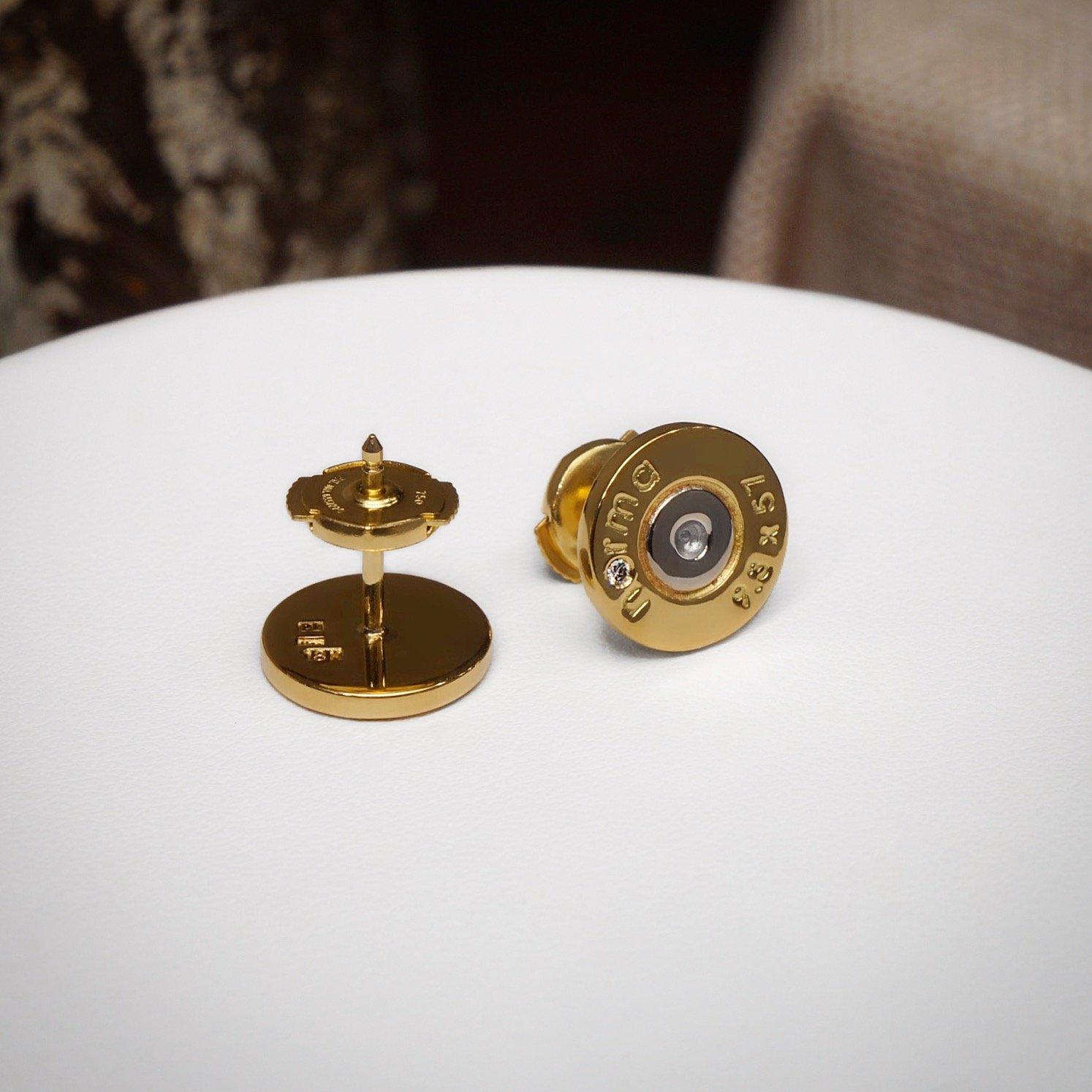 MULTICOLOR PETITE EARRINGS IN 18K GOLD.