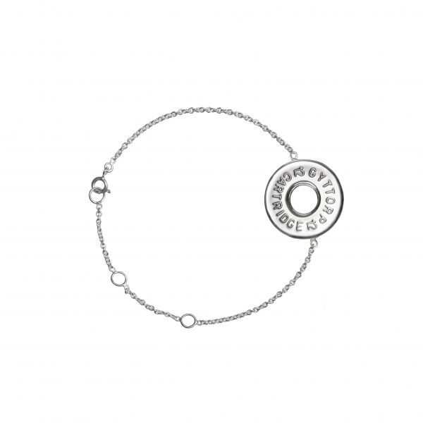 Shotgun 12ga petite silver bracelet